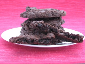 Dark Chocolate and Sour Cherry Cookies