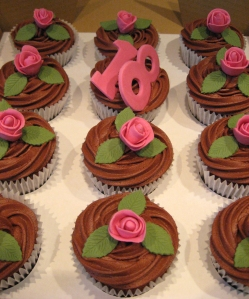 Rosebud Cupcakes for 18th Birthday