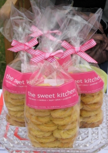 Lemon and Polenta Cookies packaged for the sale