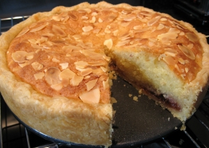 Plum and Cinnamon Bakewell Tart - the inside story