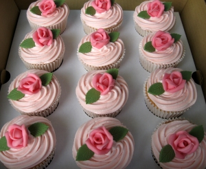 Pink Chocolate Rose Cupcakes