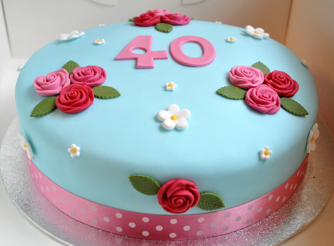 Birthday Cake Decoration Images : 40th Birthday Cake   from the sweet kitchen