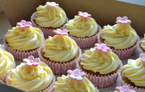 Cake Decorating Beeston : Pink Christening Cupcakes from the sweet kitchen