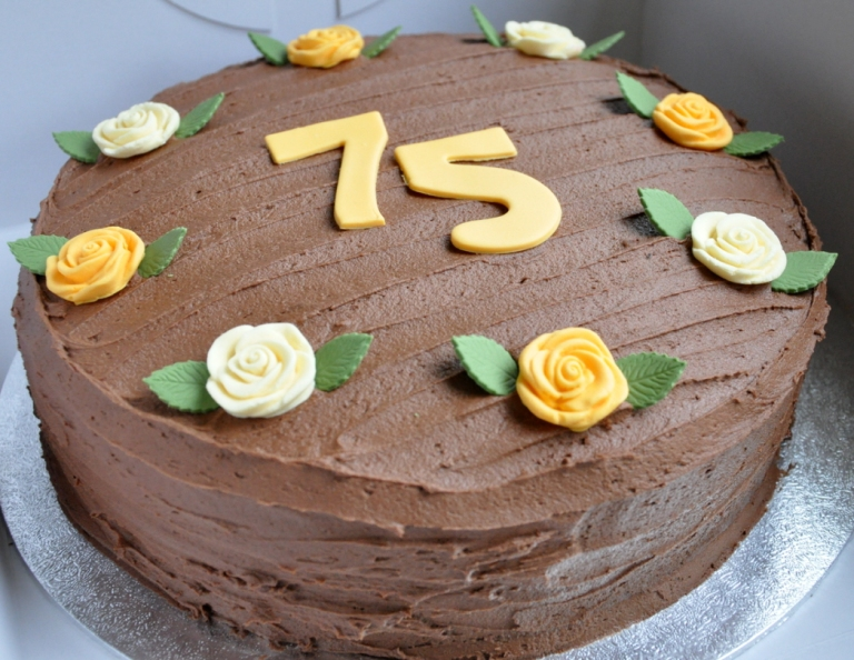 75th Birthday Cake From The Sweet Kitchen
