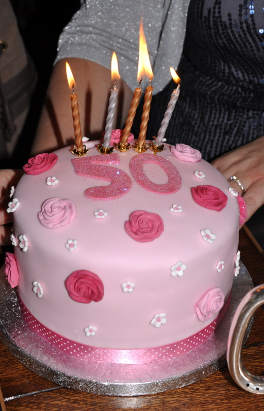 Pretty In Pink 50th Birthday Cake From The Sweet Kitchen