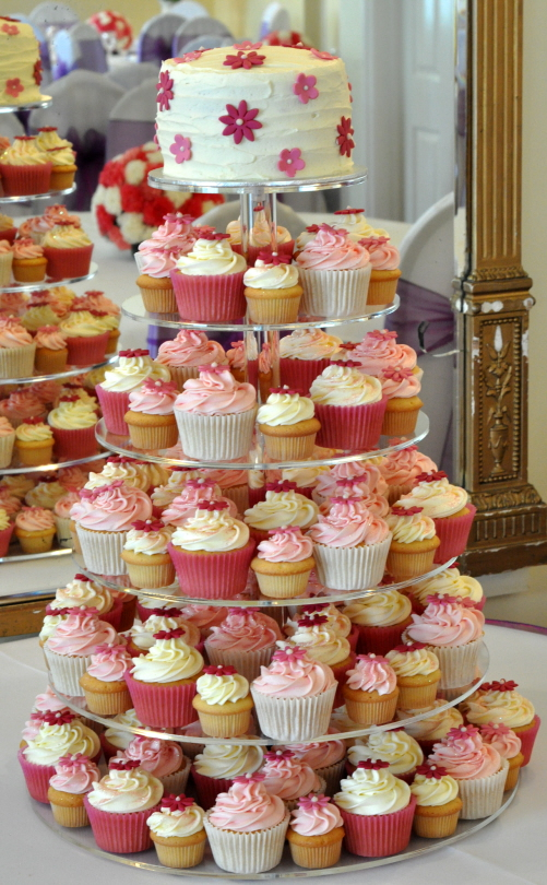 This is the most recent wedding cupcake tower I have made just a couple of