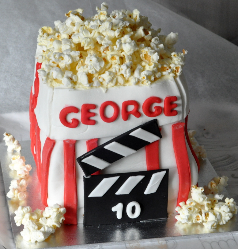 Bag Of Popcorn Birthday Cake From The Sweet Kitchen