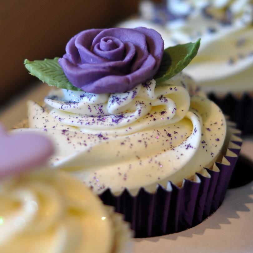 Wedding Cupcake Tower: Purple Wedding Cupcake Tower At Brampton Golf Club