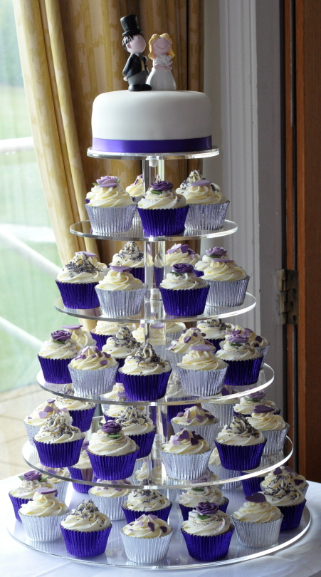 Purple Wedding Cupcake Tower At Brampton Golf Club From The Sweet Kitchen