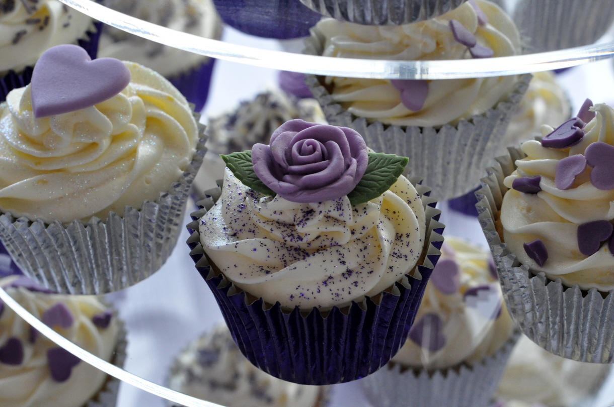 Purple Wedding Cupcake Tower at Brampton Golf Club – from