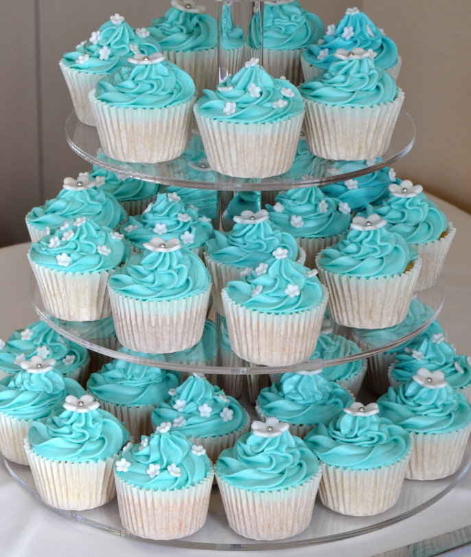 tiffany blue cupcake wedding cake blue wedding cupcakes from the sweet kitchen 20998