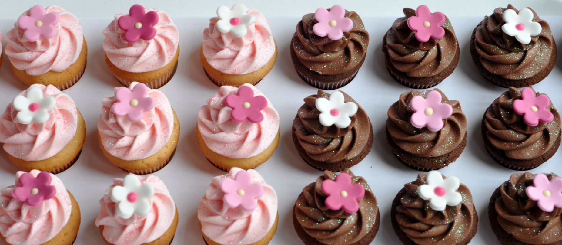 Pink And Sparkly Christening Cupcakes From The Sweet Kitchen