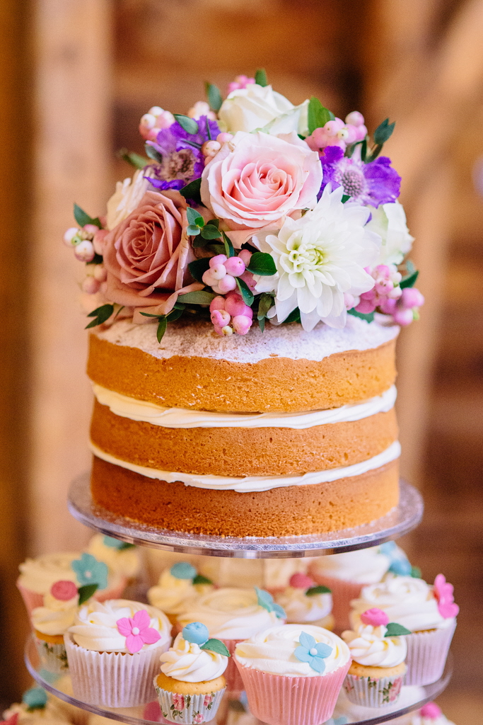Naked Wedding Cake  From The Sweet Kitchen-5287